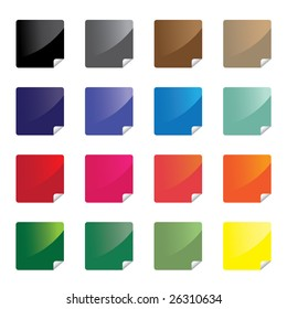 Colorful glossy stickers / vector