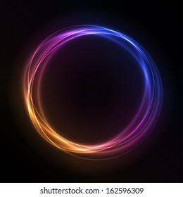 Colorful Glowing Rings - vector eps10 abstract background