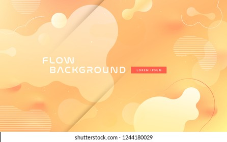 Colorful gold geometric background pattern. Fluid yellow shapes composition with trendy gradients on background. Eps10 vector.