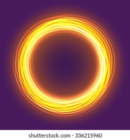 Colorful gold glowing rings. Vector abstract background EPS10.
