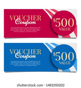 Colorful Golden Gift Vouchers Offers Template Prizes Reward Winning Graphics Design Vector