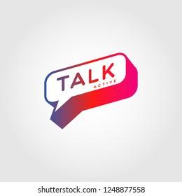 Colorful Gradient Bubble Talk Logo Sign Symbol Icon