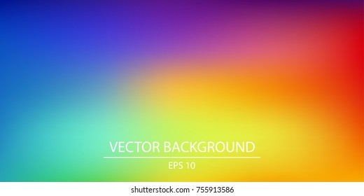 Colorful gradient mesh background in bright rainbow colors