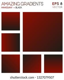 Colorful gradients in mahogany, black color tones. Admirable background, decent vector illustration.