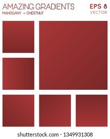 Colorful gradients in mahogany, chestnut color tones. Actual background, mind-blowing vector illustration.