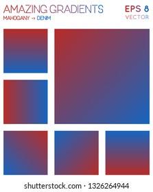 Colorful gradients in mahogany, denim color tones. Adorable background, mesmeric vector illustration.