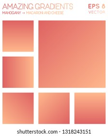 Colorful gradients in mahogany, macaroni and cheese color tones. Actual background, nice vector illustration.