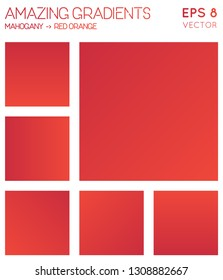 Colorful gradients in mahogany, red orange color tones. Admirable background, magnetic vector illustration.