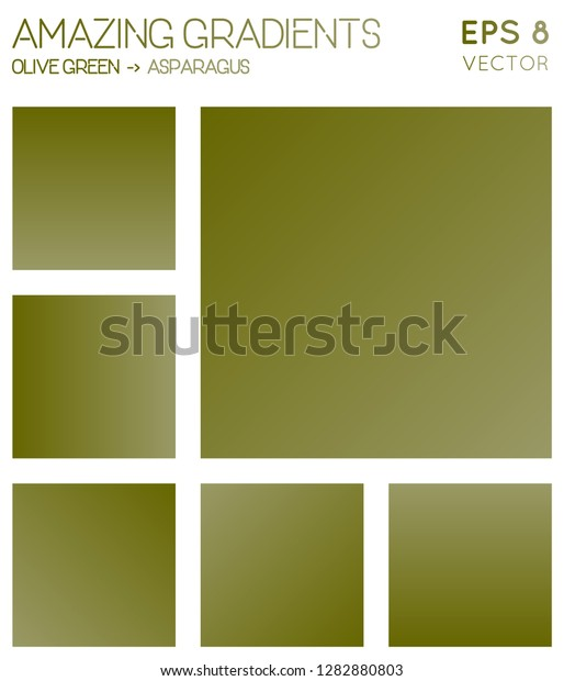 Colorful Gradients Olive Green Asparagus Color Stock Vector Royalty Free 1282880803
