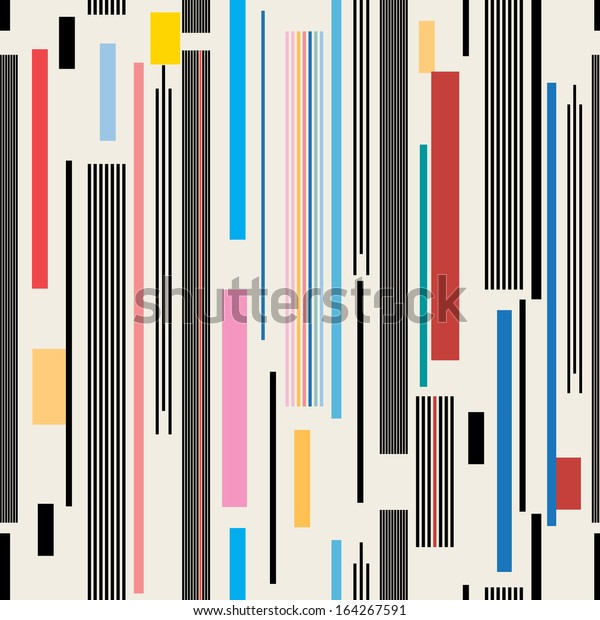 colorful graphic pattern of various stripes