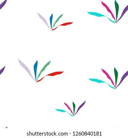 Colorful Grass Seamless Pattern Background. Vector. Elements are not cropped. Pattern under the mask. Perfect design for textile, box, posters, cards, brochures, etc.