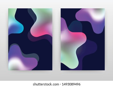 Colorful green purple stars design of annual report, brochure, flyer, poster. Star concept background vector illustration for flyer, leaflet, poster. Business abstract A4 brochure template.