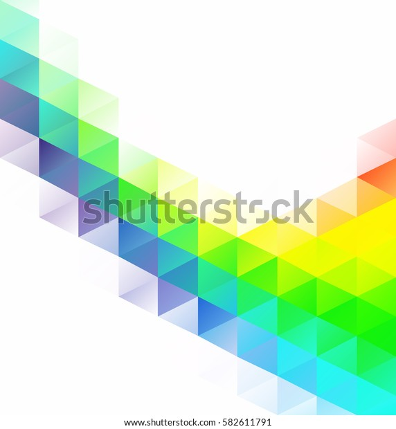 Colorful Grid Mosaic Background, Creative Design Templates