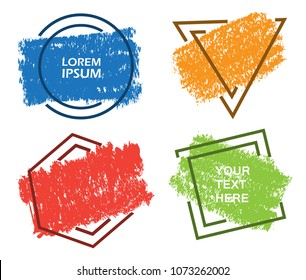 Colorful grunge banners.Vector banners for your design.