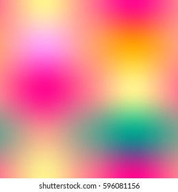 Colorful halftone gradient mesh seamless pattern in bright rainbow colors. Abstract smooth image. Easy editable illustration for spring and summer designs of textile, wallpaper, package or wrap.