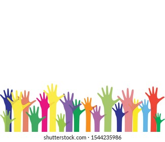 colorful up hand background, illustration vector template