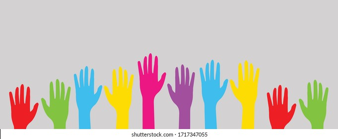 Colorful up hand background-vector illustration