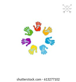 Colorful Hand Drawing Vector Icon