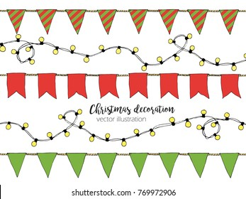 Seamless Vector Christmas Lights Pattern On Stock Vector Royalty
