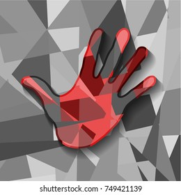Colorful hand, vector