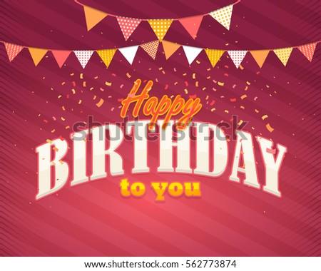 Colorful Happy Birthday Celebration Design Greeting Image