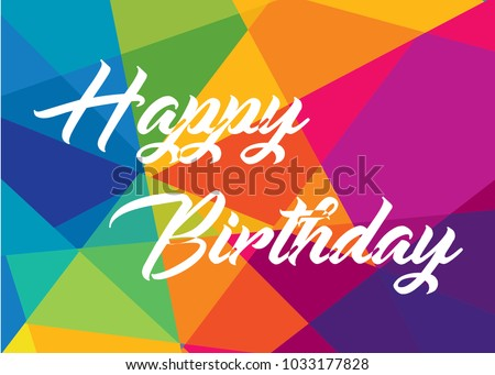 Colorful Happy Birthday Greeting Background Vector De Stock Libre