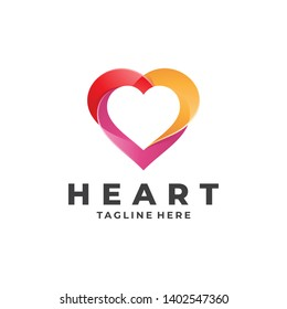 Colorful Heart Love Logo Icon with Modern Gradient Color