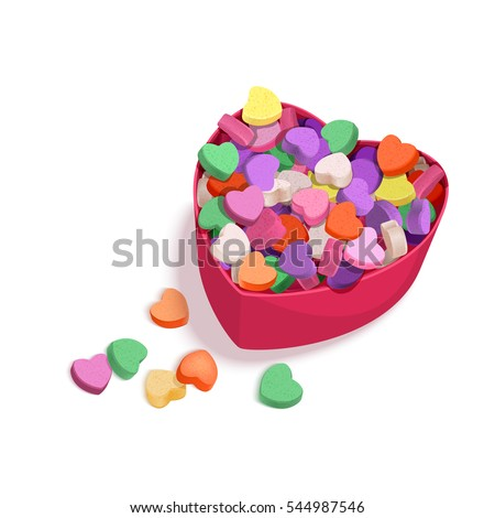Colorful Hearts Candy Valentines Day Posters Stock Vector Royalty