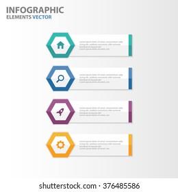 Colorful hexagon banner presentation templates Infographic elements flat design set for brochure flyer leaflet marketing advertising