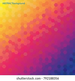 Colorful Hexagons - Abstract Background - Vector illustration eps10