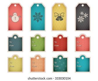 christmas hanukkah holiday gift tags templates stock vector royalty