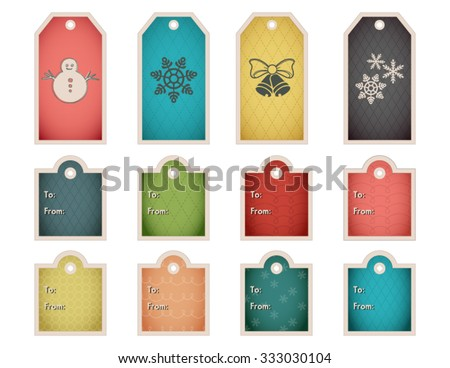 colorful holiday gift tag template set stock vector royalty free