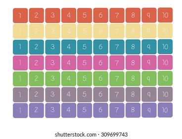 Colorful Hopscotch Vector