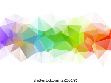 Colorful horizontal polygonal background. Vector version