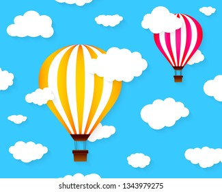 Colorful hot aie balloons. Vector illustration