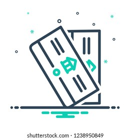 Colorful icon for bankbook