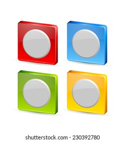 Colorful icon or button backgrounds suitable for custom design