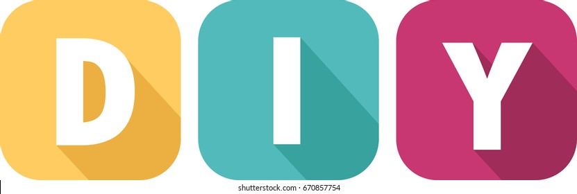 Do it yourself images stock photos vectors shutterstock colorful icon with do it yourself letters solutioingenieria Gallery