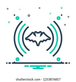 Colorful icon for echolocation