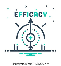 Colorful icon for efficacy