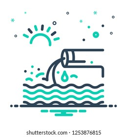 Colorful icon for effluent