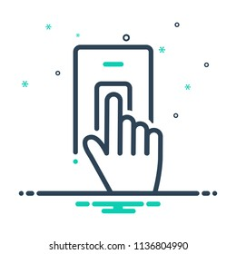 colorful icon for finger scan