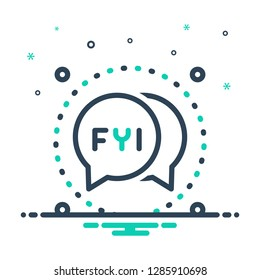 Colorful icon for fyi