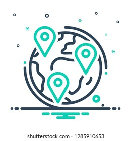Colorful icon for geotracking