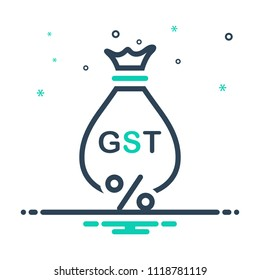colorful icon for gst exemption