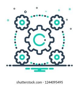 Colorful icon for interoperability
