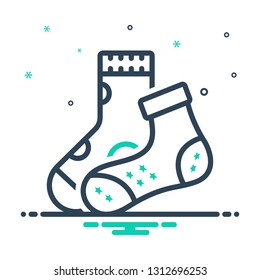 Colorful icon for mismatch socks
