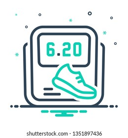 Colorful icon for pedometer