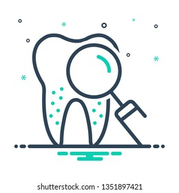 Colorful icon for periodontics