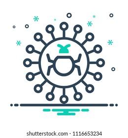colorful icon for quarantine antivirus